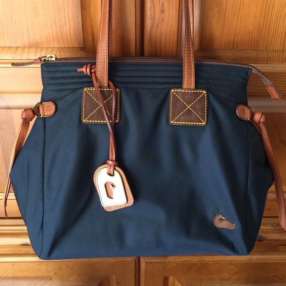 9e76686a099f Dooney   Bourke Handbags - Dooney   Bourke Nylon Navy Betty Satchel